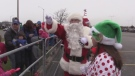 Santa Claus arrives in Windsor at Devonshire Mall