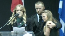 Family of Const. John Davidson speaks at memorial