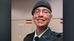 Nolan Caribou, an infantryman with the Royal Winnipeg Rifles, which is based in Winnipeg, was found dead at the Shilo base around 7 p.m. Saturday. (Source: Department of National Defence)