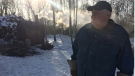 McInnes walked away from a crash that sent him off a bridge and into icy water in rural Manitoba. (Beth Macdonell/ CTV News)