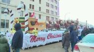 Large crowd presence at Santa Parade despite cold