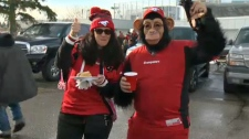 McMahon Stadium tailgating - Western Final