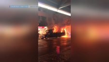 Party bus fire