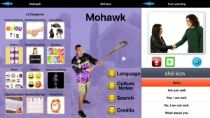 Six Nations Polytechnic launches new Mohawk language app as shown in this handout image. (THE CANADIAN PRESS/HO-Nations Polytechnic)