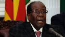Zimbabwean President Robert Mugabe delivers his speech during a live broadcast at State House in Harare, Sunday, Nov, 19, 2017. (AP Photo)