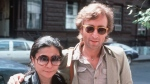 FILE - In this Aug. 22, 1980, file photo, John Lennon, right, and his wife, Yoko Ono, arrive at The Hit Factory, a recording studio in New York City.