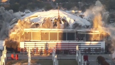 Extended: Georgia Dome imploded in Atlanta