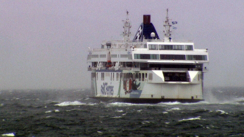 Strong winds that blew in as part of a storm system that dumped rain on B.C.'s South Coast cancelled ferry sailings Sunday, Nov. 19, 2017.