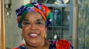 This October 1991 file photo shows actress Della Reese. Reese, the actress and gospel-influenced singer who in middle age found her greatest fame as Tess, the wise angel in the long-running television drama 'Touched by an Angel,' died at age 86. (AP Photo/Douglas C. Pizac, File)