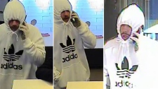 A suspect in a series of bank robberies in November in Ottawa is described as white, between 5'8 and 5'10, in his mid-20s with light or reddish facial hair. (Ottawa Police)
