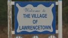 The sign welcoming visitors to Lawrencetown, N.S., is seen in this undated file photograph. The name of the community has fallen under scrutiny for its connection to former Nova Scotia governor Charles Lawrence.