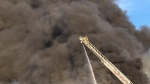 A major fire caused a large smoke plume to rise from a building on Sheffield Street in Cambridge on Monday, Nov. 20, 2017. (Dan Lauckner / CTV Kitchener)