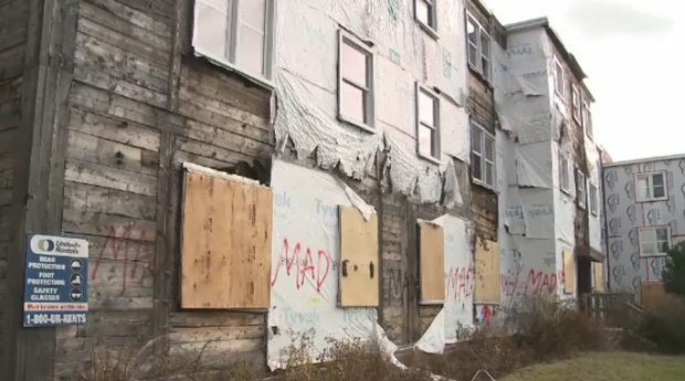 The largest group of boarded up apartments in Saint John has consistently been struck by vandals.
