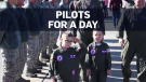 Young cancer survivors become pilots for a day