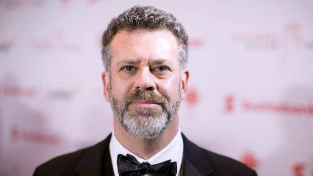 Michael Redhill, author of 'Bellevue Square,' arrives at the Giller Prize Awards ceremony in Toronto on Monday, November 20, 2017. (Chris Young / THE CANADIAN PRESS)