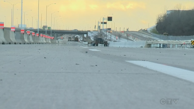 New lanes of Highway 20 will soon open to drivers from the West Island heading downtown (Nov. 20, 2017)