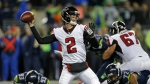 Atlanta Falcons quarterback Matt Ryan passes against the Seattle Seahawks in the second half of an NFL football game in Seattle, Monday, Nov. 20, 2017. (AP / Stephen Brashear)