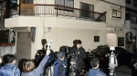 An apartment in Neyagawa, Osaka, western Japan where buckets filled with concrete were found to contain human remains, in this photo taken on Monday, Nov. 20, 2017. (Chika Oshima / Kyodo News)
