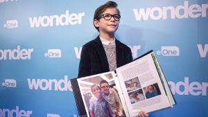 Jacob Tremblay screens 'Wonder' at SickKids
