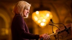 Alberta Premier Rachel Notley speaks at business luncheon put on by the Empire Club of Canada in Toronto, Monday, Nov. 20, 2017. (Mark Blinch / THE CANADIAN PRESS)