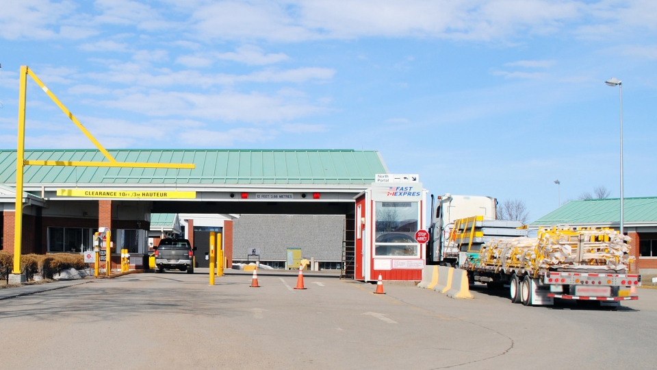 North Portal border crossing in Saskatchewan
