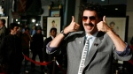"Actor Sacha Baron Cohen arrives in character as Borat for the film premiere of 'Borat: Cultural Learnings of America for Make Benefit Glorious Nation of Kazakhstan"" in the Hollywood section of Los Angeles, Oct. 23, 2006. (Matt Sayles/AP)"
