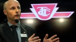 TTC CEO Andy Byford speaks to the media in this file photo from Toronto on Wednesday, April 1, 2015. (THE CANADIAN PRESS / Nathan Denette)