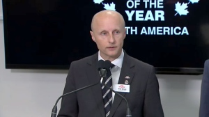 """TTC CEO Andy Byford speaks to reports about his decision to step down from his role on Nov. 21, 2017. Byford says he expects to stay in the role until """"mid-December."""""""