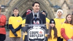 CTV News Channel: Grey Cup arrives in Ottawa