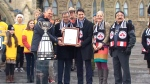 PM Trudeau welcomes Grey Cup to Ottawa ahead of bi