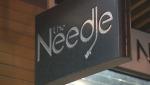 The Needle Vinyl Tavern sign