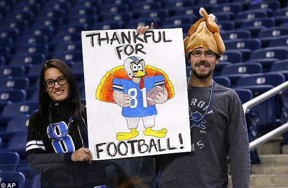 Thanksgiving at Ford Field in Detroit Mich. (AP)