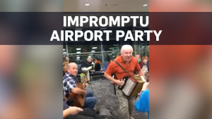 Flight delay leads to party in Toronto airport