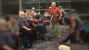 CTV National News: Spontaneous party at Pearson