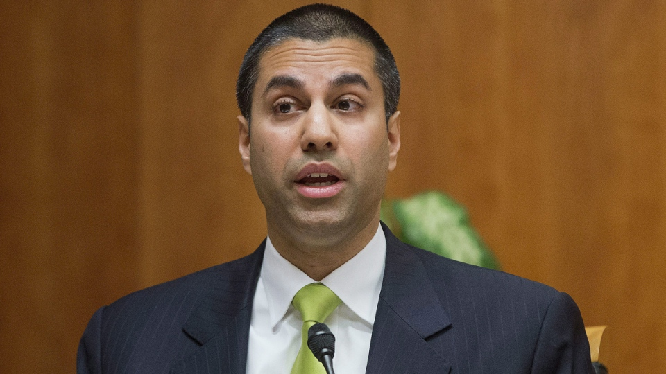 U.S. Federal Communication Commission Chariman Ajit Pai in Washington, on Feb. 26, 2015. (Pablo Martinez Monsivais / AP)