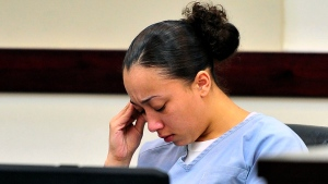 In this file photo, Cyntoia Brown reacts during her hearing in Nashville, Tenn.,Tuesday, Nov. 13, 2012. (AP / The Tennessean, Jae S. Lee)