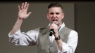 Richard Spencer, who leads a movement that mixes racism, white nationalism and populism, speaks at the Texas A&M University campus in College Station, Texas on Dec. 6, 2016. (David J. Phillip/AP)