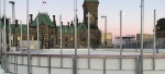 The Canada 150 Rink, under construction on Parliament Hill, Nov. 22, 2017.