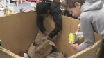 Students win chance to help food bank