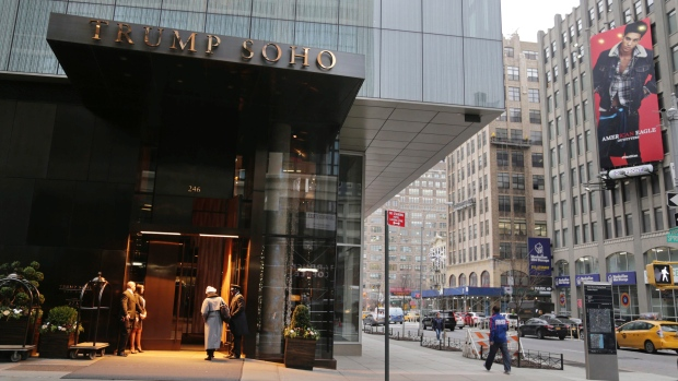 The Trump Soho hotel is seen in New York on Dec. 6, 2016. (Seth Wenig/AP Photo)