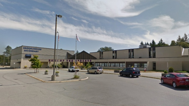 Brookswood Secondary was locked down for about an hour Wednesday, Nov. 22, 2017. (Google Street View)