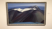 One of a handful of paintings up for auction by Group of Seven founding member Lawren Harris om Toronto. ( Sean Leathong)