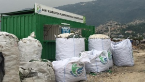 A Plastic Bank collection site is shown in this file photo.
