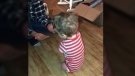 Four-year-old Camden walks for the first time (Katie Whiddon/Facebook)