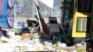 This image provided by Refugee Action Coalition shows the ransacked immigration camp on Manus Island, Papua New Guinea, Thursday, Nov. 23, 2017. (Refugee Action Coalition via AP)