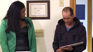Homeless man rewarded for returning cheque