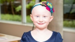 Eiight-year-old Marlow Ploughman of Shannonville, Ont.is shown in a handout photo. Marlow was diagnosed with a muscle cancer at age two and a half. She has relapsed four times and is one of the kids who now has hope because top scientists and research centres have joined forces to sequence and analyze her tumour and provide new treatment. (THE CANADIAN PRESS/HO-Terry Fox Research Foundation)