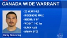 Canada-wide warrant for federal inmate