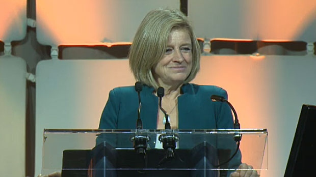 Premier Rachel Notley said during the AUMA conference in Calgary on November 23, 2017 that opponents to pipelines in Canada need to 'give their head a shake'.