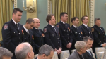 Mississauga, Ont. firefighters receive medals of bravery in Ottawa, Ont. on Thursday, Nov. 23, 2017. (CTV News)